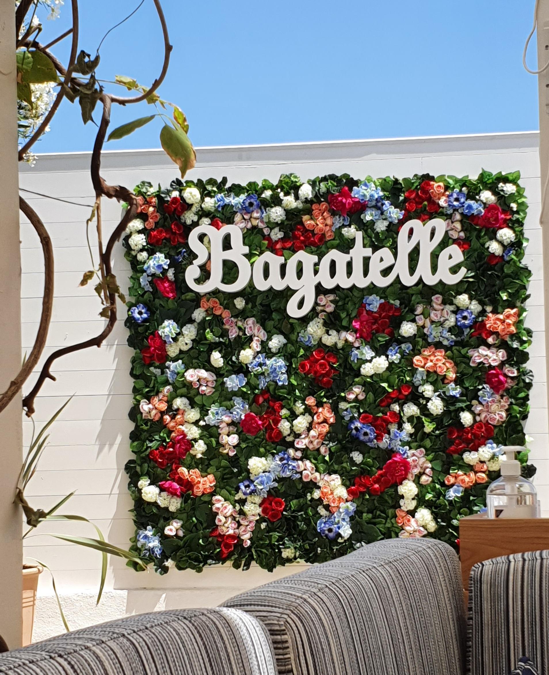 mur de fleurs Bagatelle
